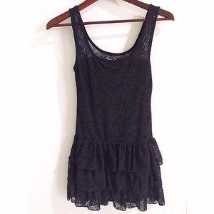 Women's Little Black Mini Lace Dress
